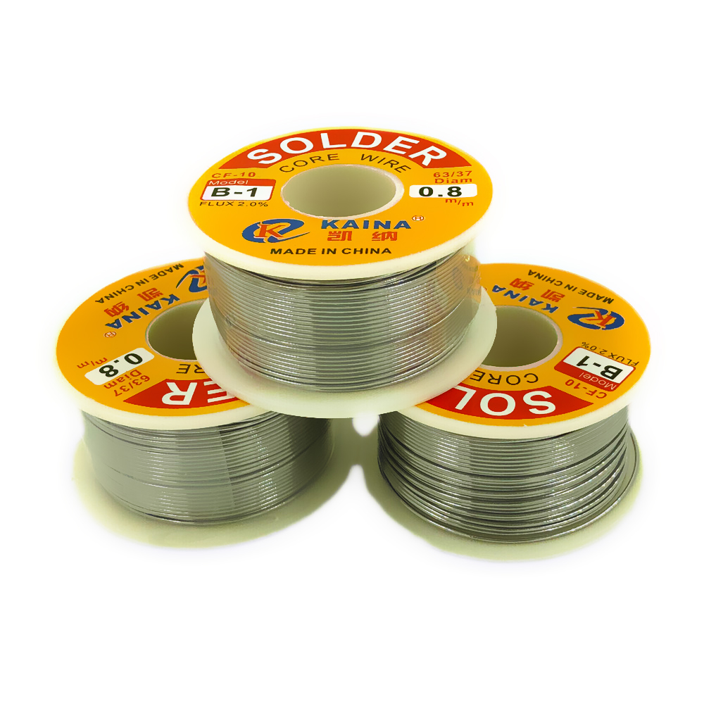 1 Roll 0.5/0.8/ 45FT 63/37 FLUX 2.0% Tin Wire Tin Lead Melt Rosin Core Solder Soldering Wire