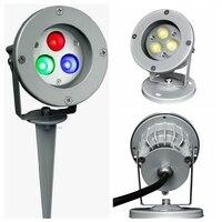Multicolor LED Gartenlampe DC24V Außen Spot-Licht RGB Landschaft beleuchtung 12 V Rasen yard flutlicht IP65 spike runde basis