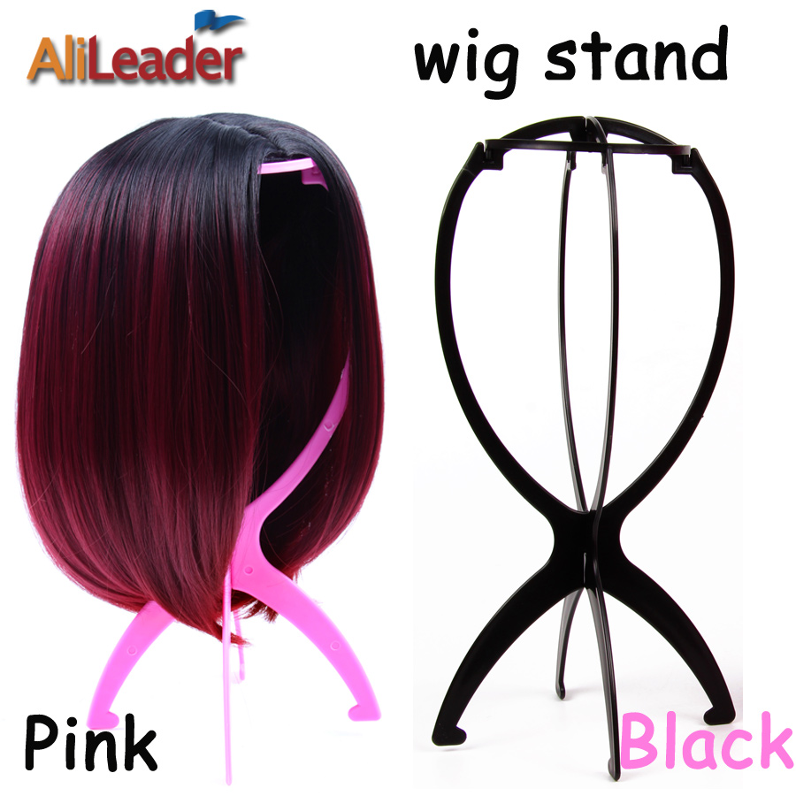 Top Quality Wig Stand Multi-Purpose Use Hat Wig Hair Head Stand Travel Friendly Foldable Flexible Plastic Wig Holder 1Pcs/Lot