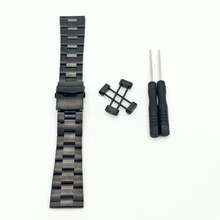 For Suunto Core Series All Black Stainless Steel Strap Watch Band Lugs + PVD Folding Buckle +  Adapters + Tools
