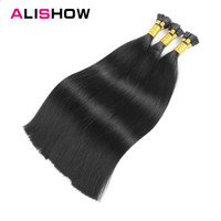 Alishow Keratin I Tip Human Hair Extensions 100g 18 Remy Hair Straight Capsule I Tip Fusion Human Hair Extension 100PCS