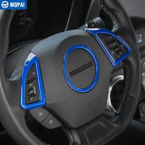 Image 3 - MOPAI ABSภายในรถพวงมาลัยฝาครอบตกแต่งสติกเกอร์สำหรับChevrolet Camaro 2017 รถอุปกรณ์จัดแต่งทรงผม