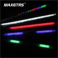 4x 30cm 60cm Car Flexible Flashing Strobe Strip Waterproof 3528 Multi Patterns Scanner Knight Rider Lights White/Blue/Red/RGB