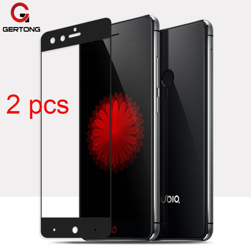 GerTong 2pcs/lot Tempered Glass For ZTE Nubia Z11 Z17 Mini Max M2 Lite V8 Screen Protector For ZTE Blade A2 Plus Full Cover Film