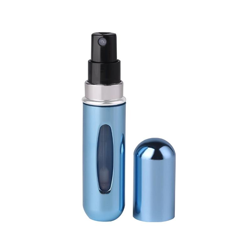 5 мл многоразовый мини флакон-спрей для духов Алюминиевый распылитель портативный дорожный косметический контейнер флакон для духов - Цвет: bright blue