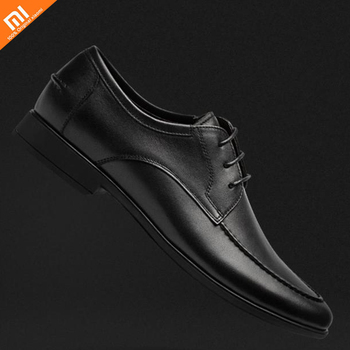Original xiaomi youpin Nappa top layer cowhide soft pull wire Men's casual shoes Comfortable shoes
