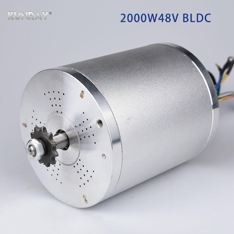 KUNRAY MY1020 48 V DC 2000 W eléctrico sin escobillas Motor 5400 RPM Scooter Eléctrico moto bicicleta eléctrica accesorios parte