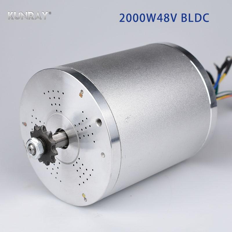 KUNRAY MY1020 48 V DC 2000 W Do Motor Brushless Elétrica 5400 RPM Scooter Elétrico E Moto-Moto Bicicleta Elétrica acessórios Parte