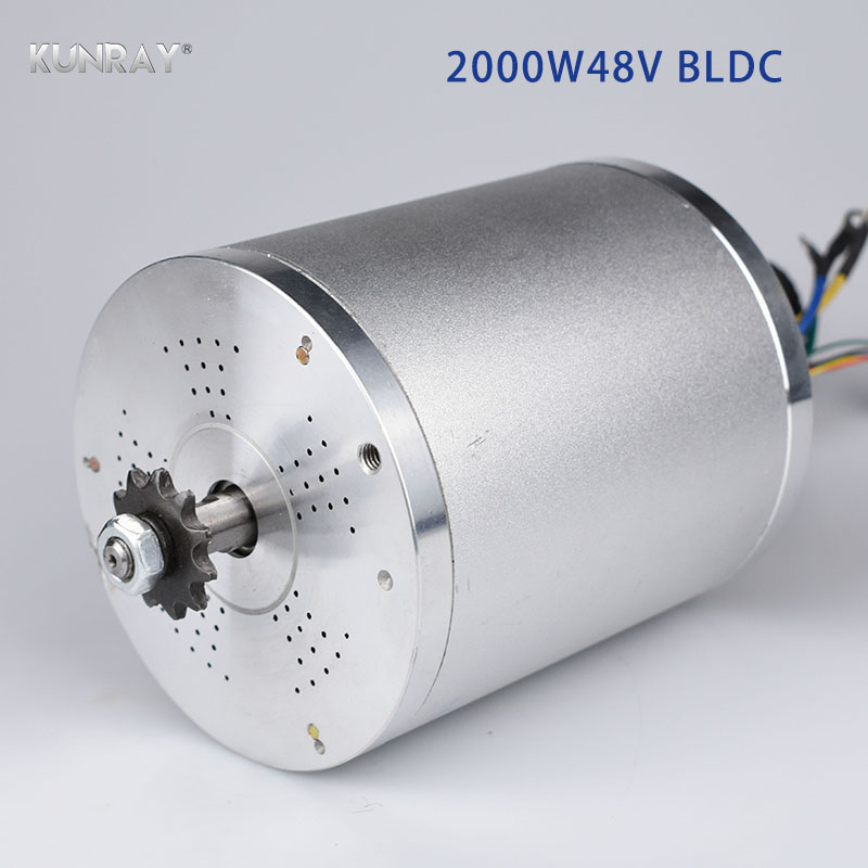 KUNRAY MY1020 48V DC <font><b>2000W</b></font> Electric Brushless <font><b>Motor</b></font> 5400RPM Electric Scooter E-<font><b>Bike</b></font> Electric Bicycle Motorcycle Accessories Part image