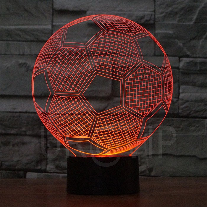 JC-2882 Amazing 3D Illusion led Table Lamp Night Light with football  shape (3)