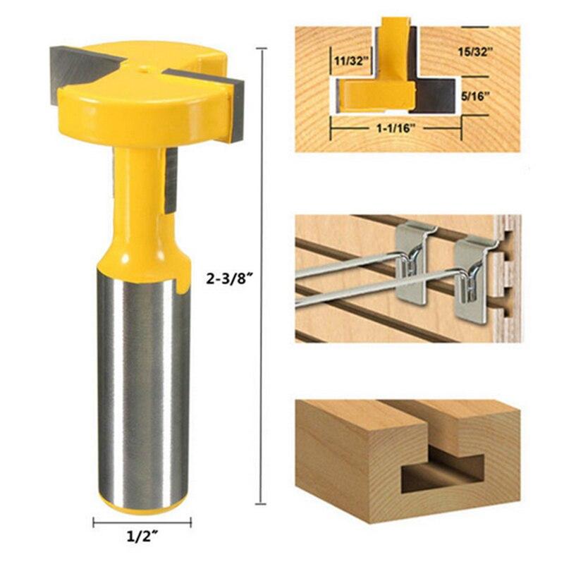 1 pc 1/2 Tige Droite T-piste T-Slot Routeur Bits Bois Ciseau Cutter Outils Électriques