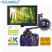 FEELWORLD FW279S с двумя L bracket7 дюймов ips 2200 nits 3G-SDI 4 K камера HDMI полевой монитор 1920X1200 DSLR монитор для съемки