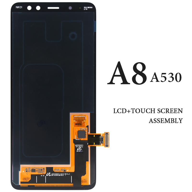 5.6For Samsung A8 2018 LCD A530 A530F A530N A530DS Black AMOLED Digitizer Display Spare Parts Pantalla Touch Assembly5.6For Samsung A8 2018 LCD A530 A530F A530N A530DS Black AMOLED Digitizer Display Spare Parts Pantalla Touch Assembly