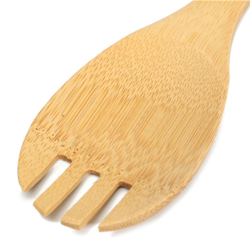 6 Pieces New Bamboo Spoon Spatula Kitchen Utensil Wooden Cooking Tool Mixing Set 15