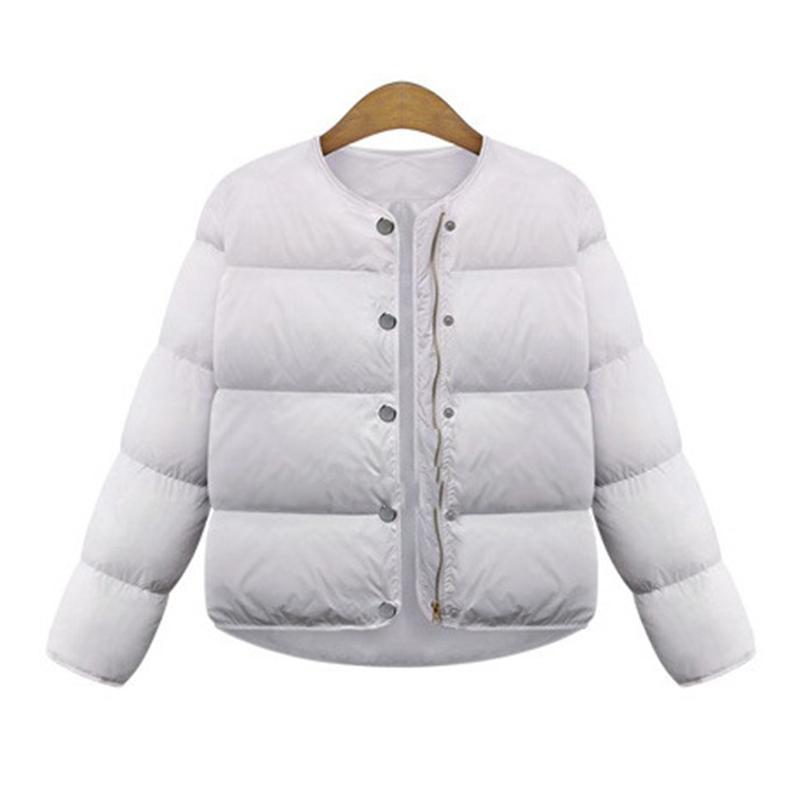 ФОТО 2016 Newest Women'S Winter New Hand Stuffed Cotton Coat Female Short Paragraph Wild Fashion Winter Coat Solid Female Trench Coat