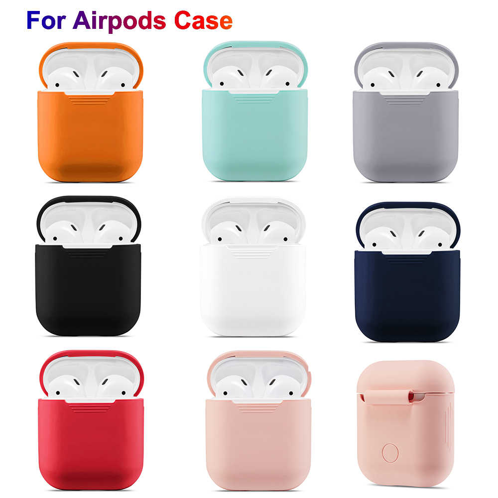 For Apple Airpods Case Cover PU Silicone Earphone Protective Case Shockproof For Air Pods Headphone Case Support dropshipping