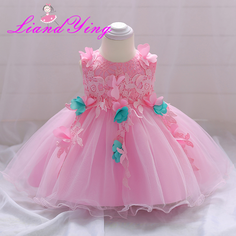 818fb50154a7f HAPPYPLUS Pink Butterfly Baby Girl Flower Dress Baby Dresses for ...