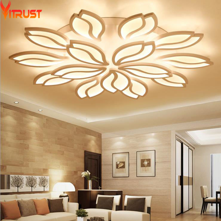 Modern LED Chandeliers Ceiling Fixtures for Foyer Living Dining Room Acrylic Remote controller Home Lighting Indoor Large Lamps цена