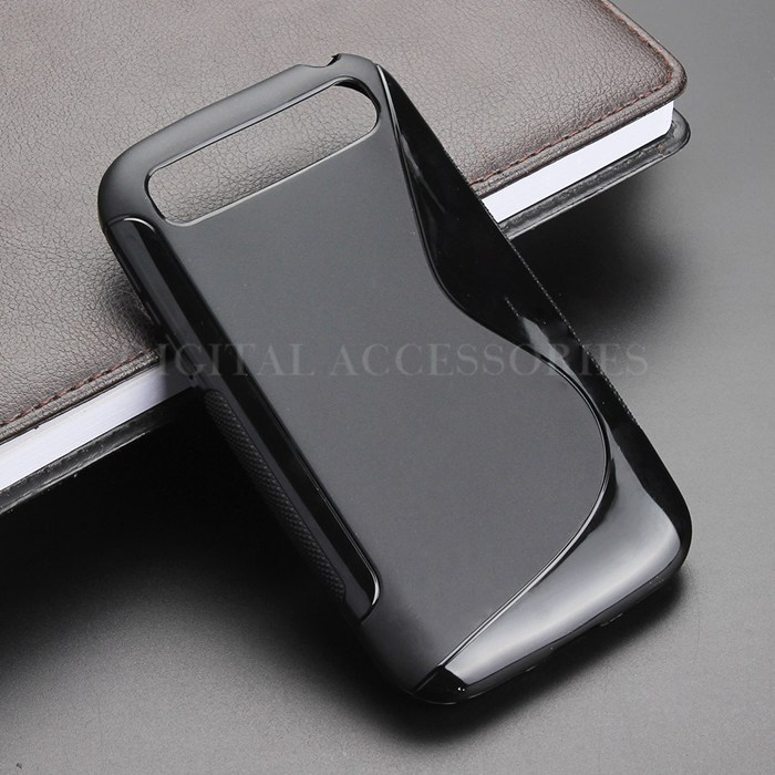 2 Color S Line Gel TPU Slim Soft Anti Skiding Case Back Cover For BlackBerry Classic Q20 Mobile Phone Rubber silicone Bag