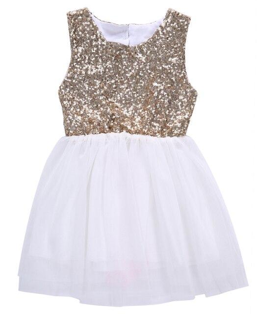 2018 New Fashion Summer Dress Sequins Princess Dress Baby Girls Sleeveless  Back Heart Hollow Out Cute f5ae5ff8395c