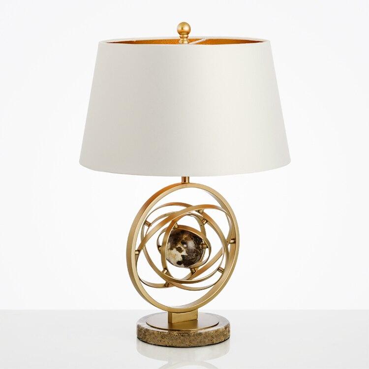 Мрамор настольная лампа простой вилла модель гостиная прикроватная тумбочка для спальни настольные лампы роскошный отель искусства декор...