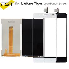 100 testowane dla UleFone Tiger wyświetlacz LCD z ekranem dotykowym Digitizer dla UleFone Tiger LCD czujnik szklany Panel części zamienne tanie tanio FSTGWAY Pojemnościowy ekran Nowy For Ulefone Tiger Monitorów lcd 1280x720 3 Black White 5 5inch 12months 2-3 Business Days