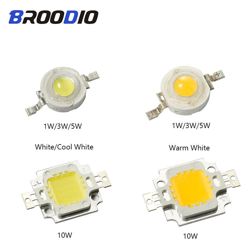 Luzes Da Lâmpada LED COB Chip LEDs Bulbo Lampada 1 Diodo Brilhante W 3W 5W 10W de Alta Potência feixe de Inundação Holofotes quente Branco Fresco Para DIY LEVOU