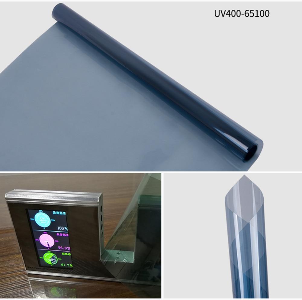 65%VLT Light Blue Nano Ceramic Solar Tint Auto Car Front Windshield Window Film 100%UV Proof Self Adhesive Sticker Foils 0.5x3m|Front Window| |  - title=
