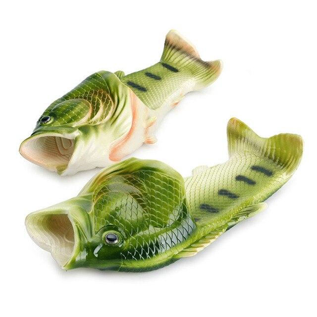 Peixe homens SLIPERS Mulheres Verão Sandálias e Chinelos Homens Chinelos de Praia Sapatos Casal de Peixes Ao Ar Livre Mulheres Calçados Esportivos klapki