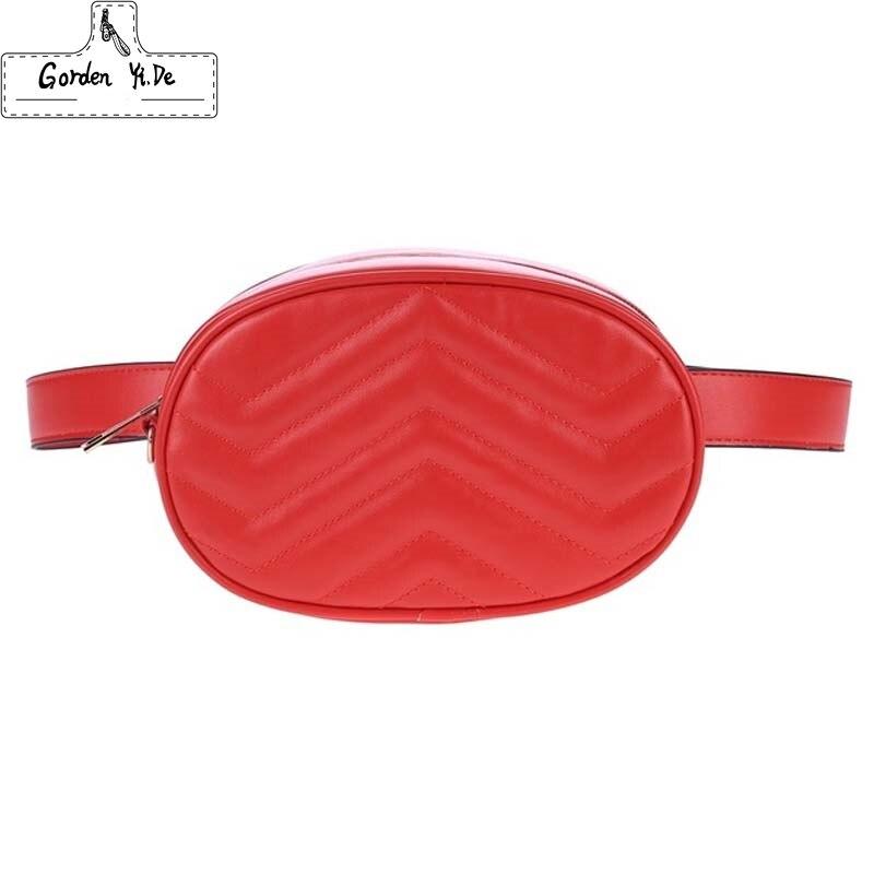 Brust Tasche Taille Tasche Frauen Runde Gürtel Tasche Luxus Marke Leder Brust Handtasche Rot Schwarz 2018 Neue Mode Hight Qualität