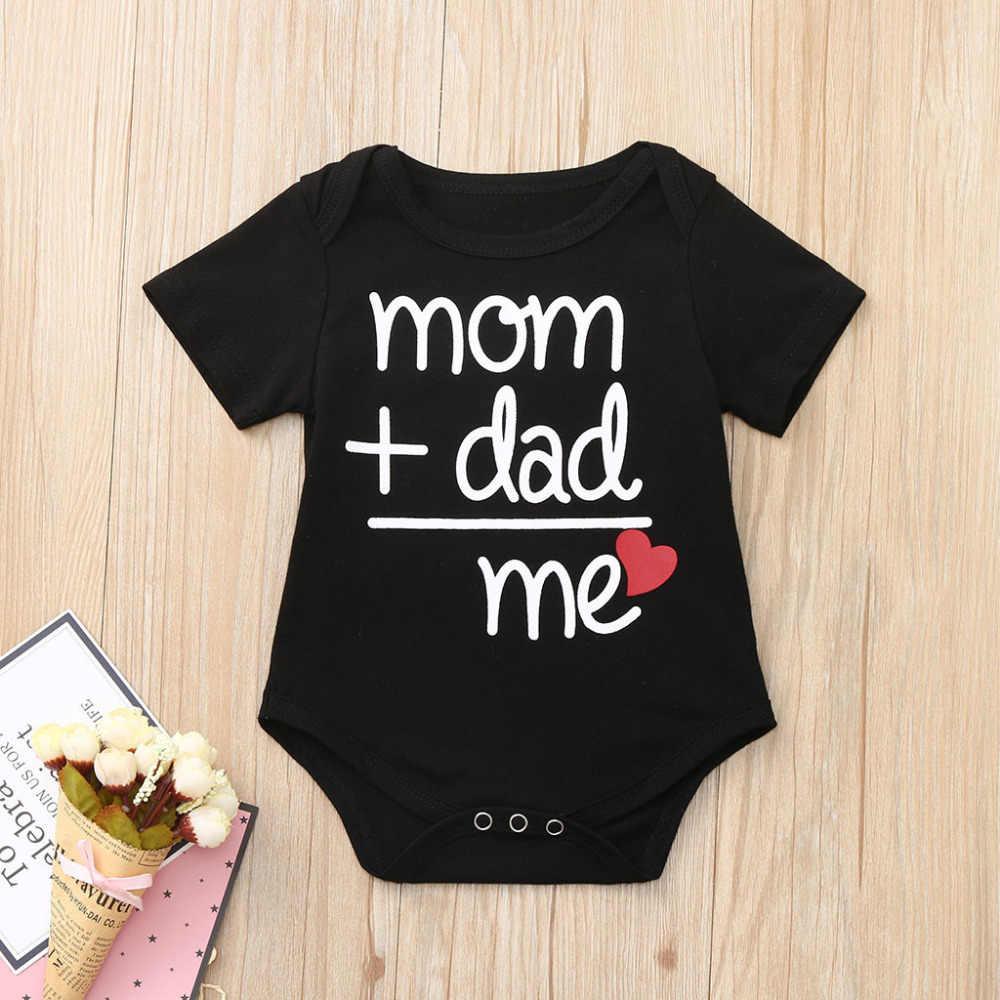 Baby Kleidung Body Kleinkind Neugeborene Baby Mädchen Jungen Brief Gedruckt Tops Overall mädchen jungen Sommer Baumwolle baby Kleidung 3- 24M