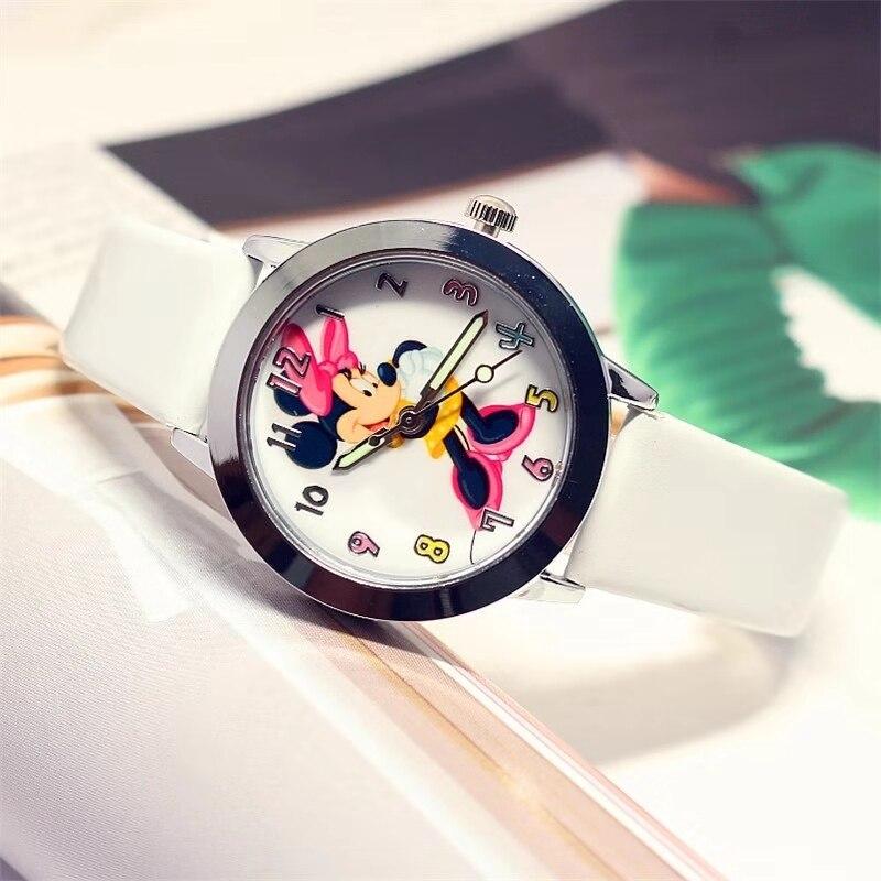 Popular Children's Cartoon Quartz Watch Animation Nicole Love In The Dark Light Of The Watch Leather Band Watch