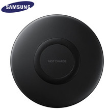 Original Samsung Fast Wireless Charger Stand For Galaxy S10 S9 S8 Plus S7 edge Note10+ 9 /iPhone 8 Plus X, 10W Qi Pad EP P1100