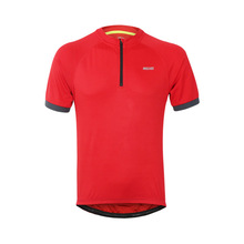 ARSUXEO Cycling Jersey Tops Summer Clothing Moisture Absorption Perspiration Breathable Running Zipper