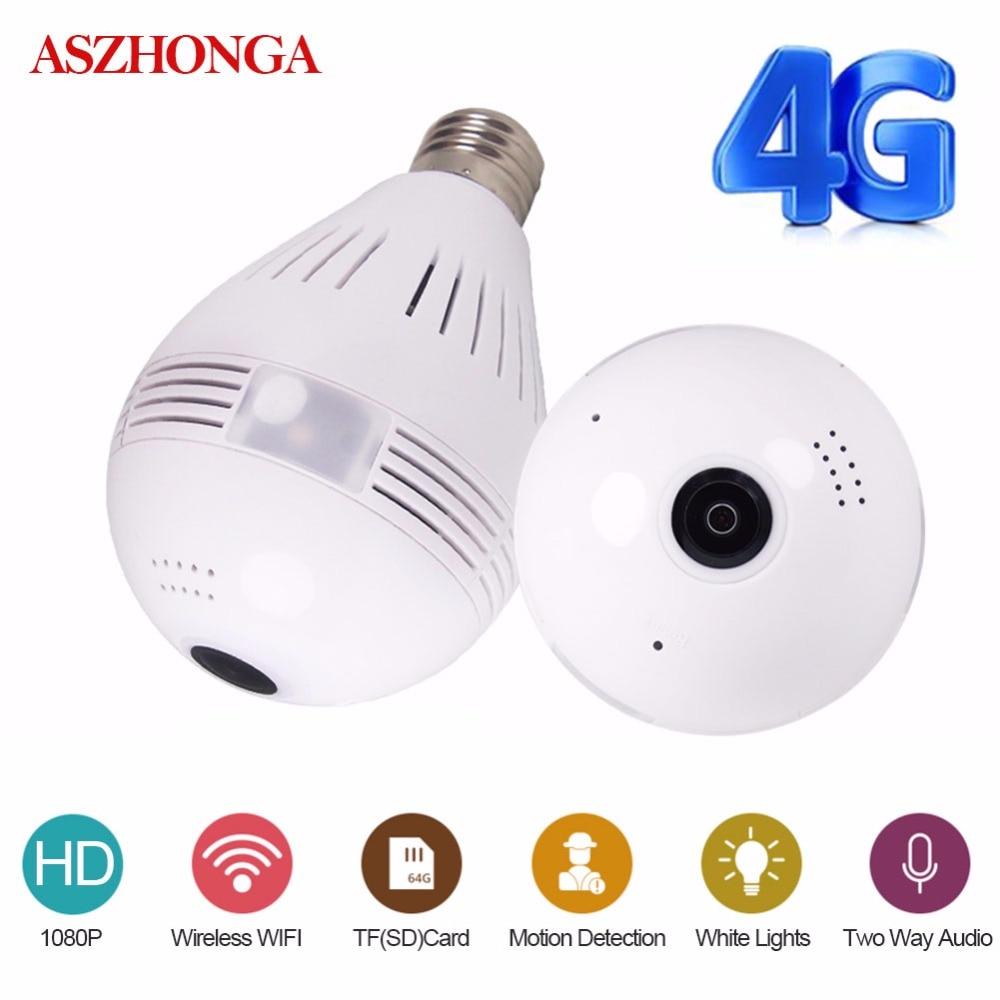 3g 4G sim карта 1080P HD Беспроводная купольная ip камера лампа Wi Fi 360 градусов рыбий глаз VR аудио домашний CCTV светильник безопасности модуль камеры - 2
