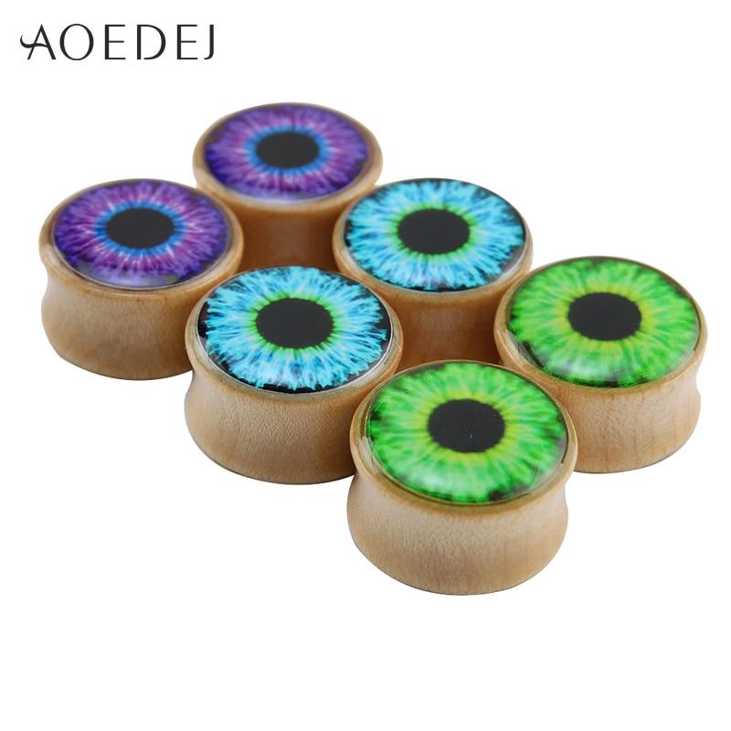 Φ_Φ8-18mm ojo patrón expansores para orejas moda Plug Piercing ...