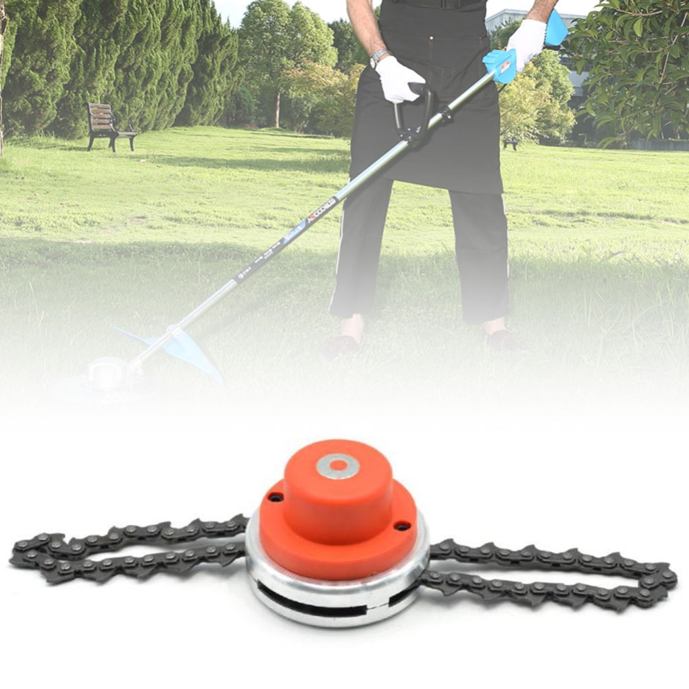 Universal 65Mn Trimmer Head Coil Chain Brush Cutter New Garden Grass Trimmer Head Upgraded With Thickening chains Lawn Mower L2
