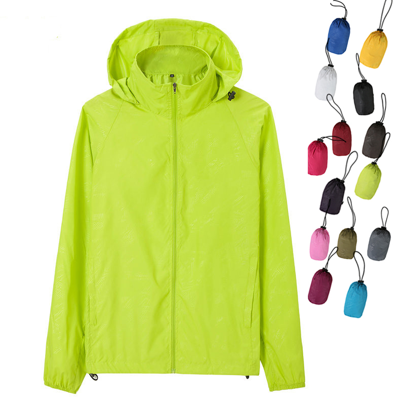Men Women Outdoor Quick-dry Sun Protection Skin Jacket Jersey Coat Top Windbreaker Spring Autumn Summer Hiking Camping Cycling