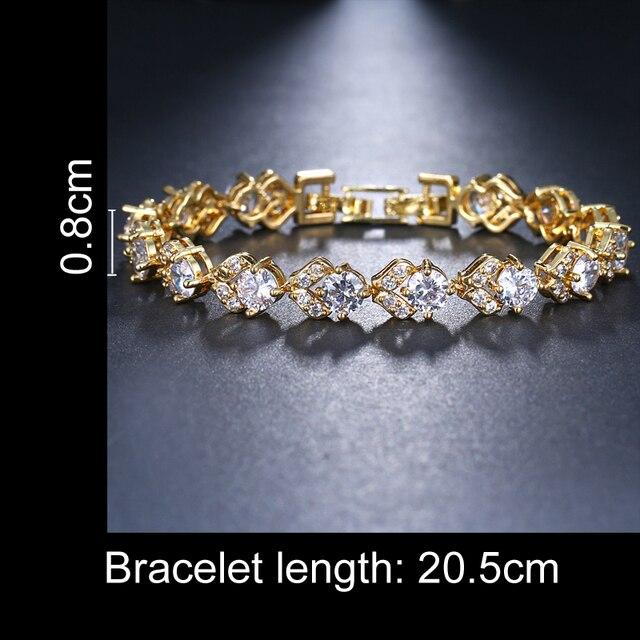 Купить модный браслет emmaya золотого цвета с кристаллами и фианитами