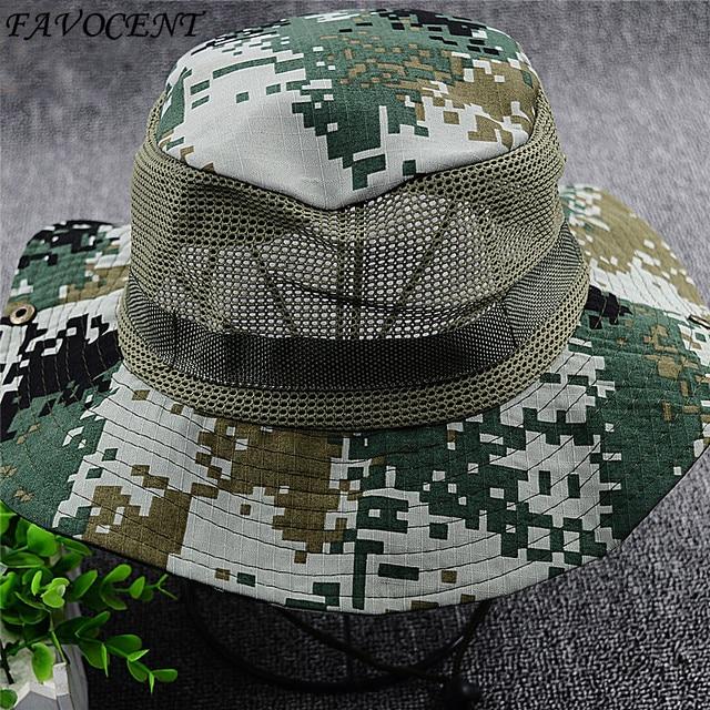 2890067424d Sunscreen hat outdoor men summer summer camouflage sun hat fisherman hat big  eave fishing climbing sun hat