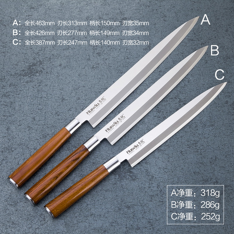 High carbon stainless steel 270mm length Japanese Yanagiba Sashimi Usuba Slicing Chef knife Japanese cooking Professional