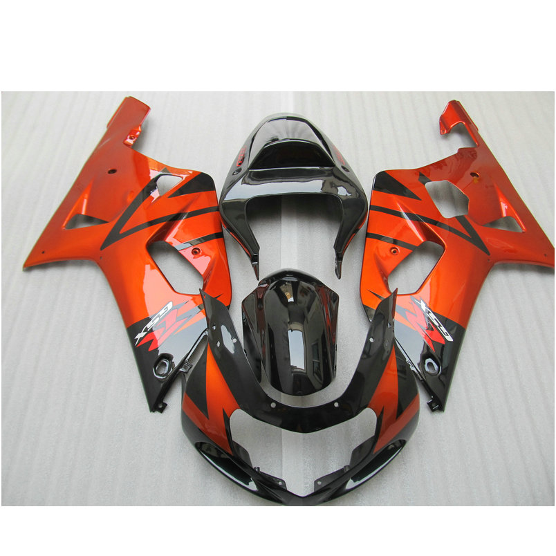 Road/racing Injection fairings for SUZUKI 2001 2002 2003 GSXR600 GSXR750 K1 GSXR 600 01 02 03 GSXR 750 burnt orange fairing set injection molded abs plastic bodywork frame fairings kit for suzuki gsxr 750 yellow black gsxr racing 2000 2001 2002 2003