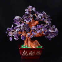 16cm natural magic amethyst family ornaments benefit feng shui free shipping