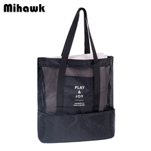 Mihawk Large Thermal Insulation Cooler Bag 2 Layers Food Lunch Bag Trips BBQ Fresh Keeping Ice Pack Cooler storage Accessories