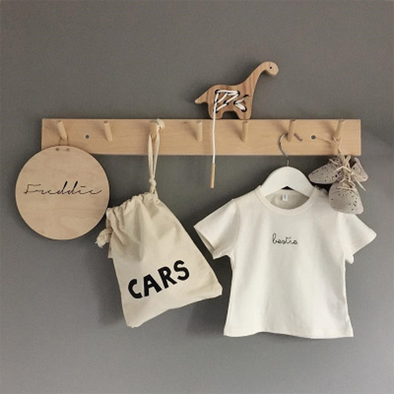45 * 8CM Eco-friendly Wooden Coat Hooks Natural Wall Hanger Hook Hat Clothes Bag Rack Storage Shelf Key Holder Organizer Hook