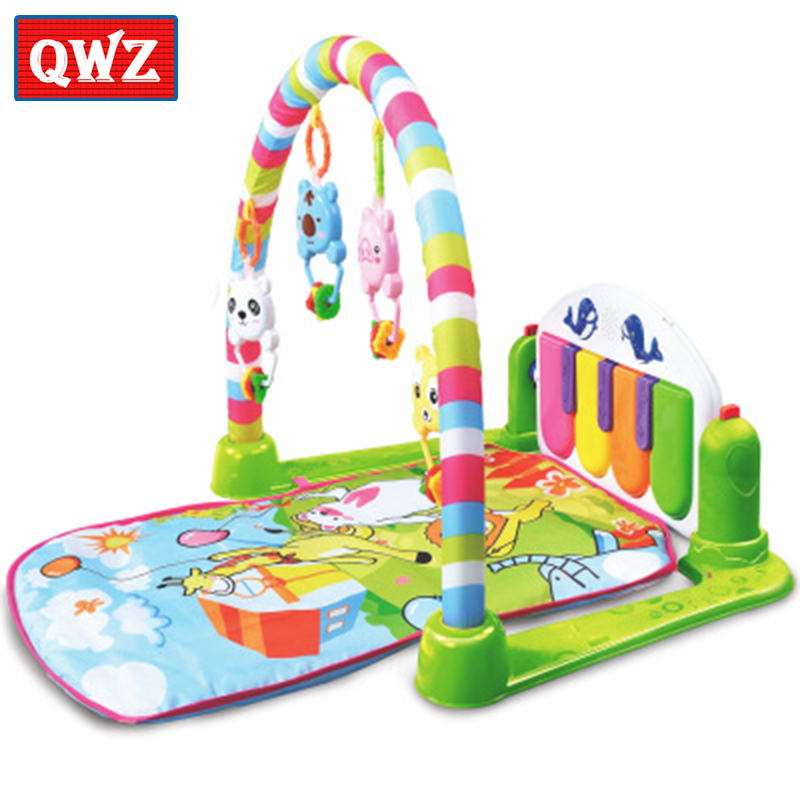 Baby Activity Gym game carpet Baby pedal piano crawling mat Link MP3 music toy to develop childrens interest and hobby skills