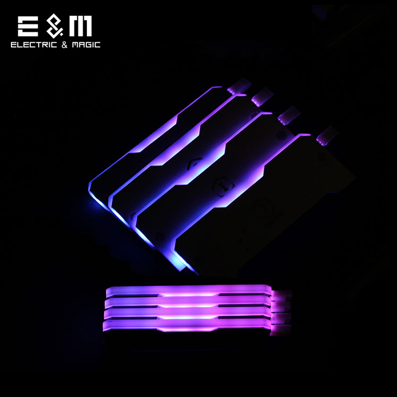 Active Components Universal Rgb Ram Led Armor Shell Memory Glowing Heatsink For Computer Cooling Vest Fin Heat Sink Controller For Ddr3 Ddr4