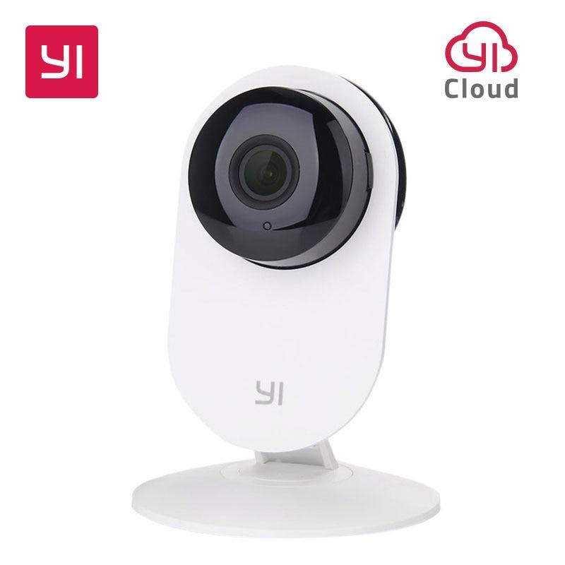 YI Maison Caméra 720 P de Vision Nocturne Vidéo Moniteur IP/Réseau Sans Fil de Surveillance de Sécurité À Domicile Internation Version (NOUS/UE) Blanc
