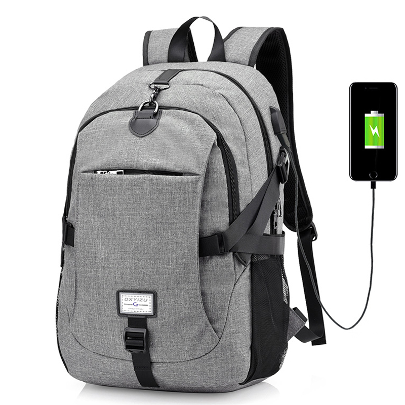 New Backpack Men USB Charging Travel Backpacks Headphone Hole Daypack for women Laptop Rucksack Large Capacity Casual Style Bag hot casual travel men s backpacks cute pet dog printing backpack for men large capacity laptop canvas rucksack mochila escolar