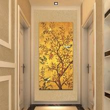 Традиционное дерево удачи и фото настенное искусство холст для